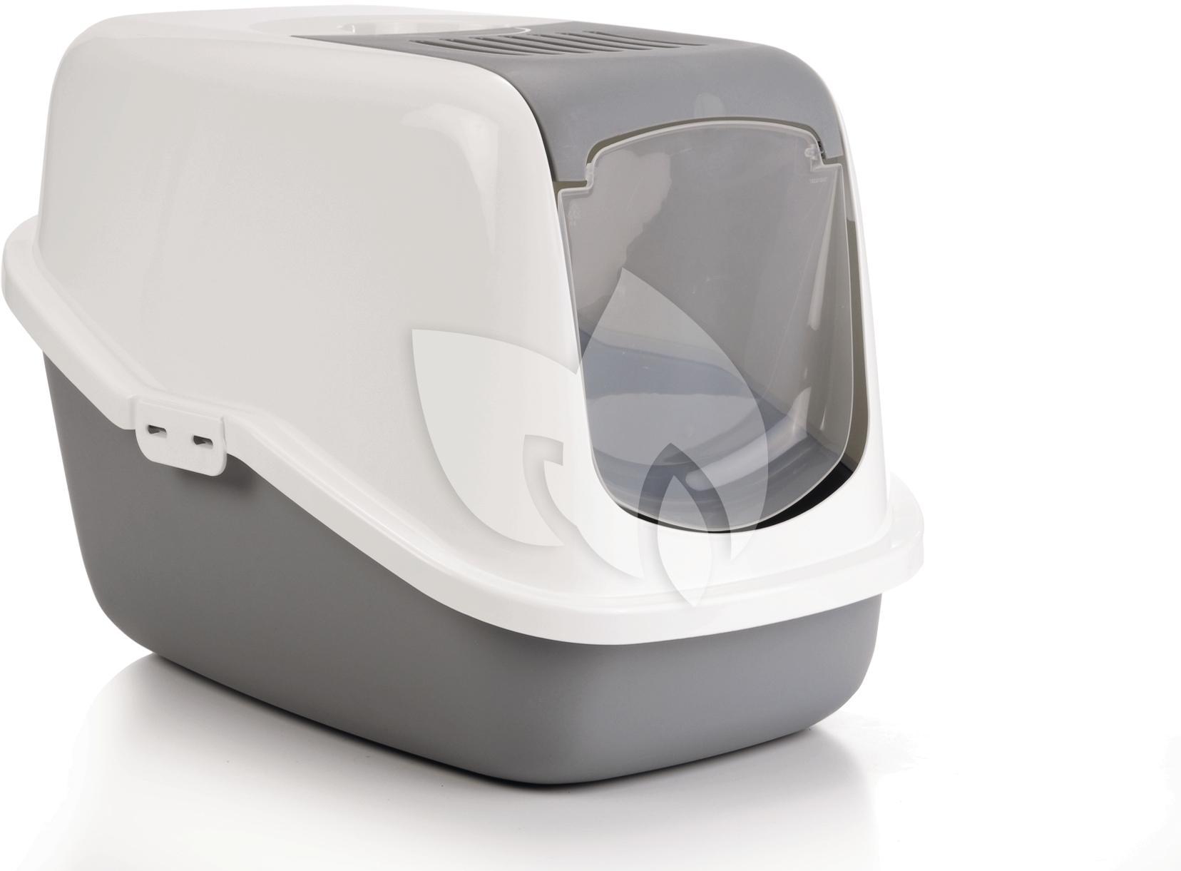 Pet products nestor kattenbak grijs wit - Deco toilet grijs en wit ...