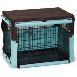 Hoes voor hondenbench bruin/mint 78 x 55 x 61 cm