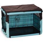 Hoes voor hondenbench bruin/mint 89 x 60 x 66 cm