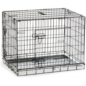 Hondenbench 2 deurs inklapbaar zwart 78 X 55 X 61 cm