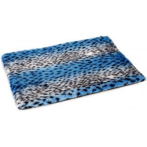 Hondenkussen voor bench Teddy luipaard blauw 57 x 40 x 3.5 cm