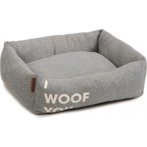 Hondenmand Woof You grijs 55 x 50 x 20 cm