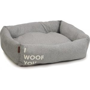 Hondenmand Woof You grijs 80 x 70 x 22 cm
