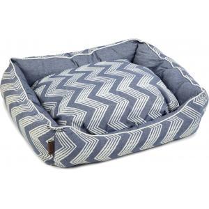 Hondenmand ZigZag blauw 80 x 70 x 22 cm