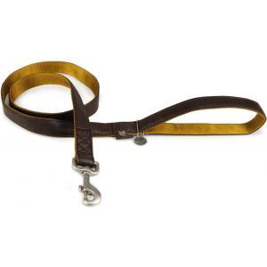 Hondenriem Mac Leater soft touch 120cm x 15mm bruin