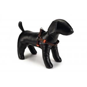 Hondentuig nylon 35-60cm donkerbruin