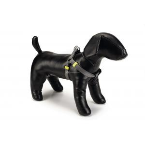 Hondentuig nylon 35-60cm donkergrijs