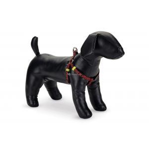 Hondentuig nylon Scribbles 46-75cm zwart