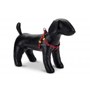 Hondentuig nylon Stars 46-75cm rood