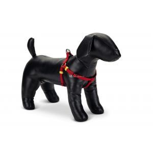 Hondentuig nylon Uni 26-40cm rood