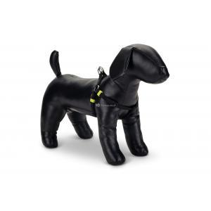 Hondentuig nylon Uni 35-60cm zwart