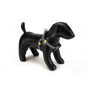 Hondentuig nylon Vista 35-60cm donkergrijs