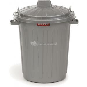 Curver ton voor hondenvoer met deksel grijs 23 liter