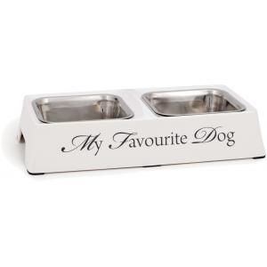 Dinner hondenvoerbak My Favourite Dog wit