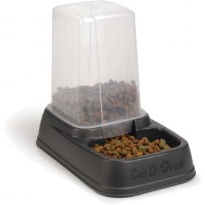 Eet-en drinkautomaat voor honden 3.7L antraciet