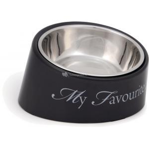 Hondenvoerbak My Favourite Dog grijs 18 cm