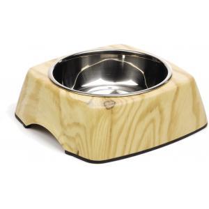 Hondenvoerbak Natural Wood 18 cm