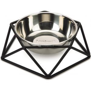 Hondenvoerbak Puroni zwart 19 cm