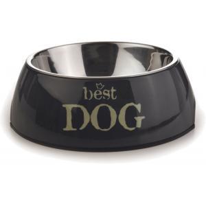 Hondenvoerbak rond Best Dog grijs 14 cm