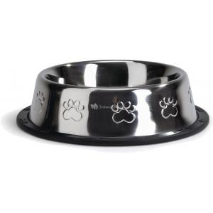 Hondervoerbak antislip met voetopdruk. 18 cm