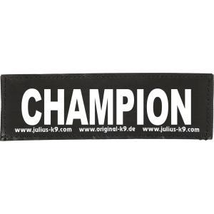 Julius-K9 tekstlabel Champion 16 x 5 cm