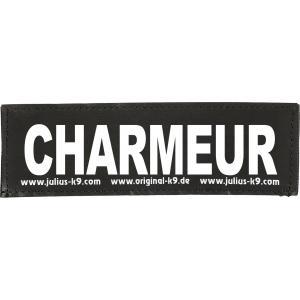Julius-K9 tekstlabel Charmeur 11 x 3 cm