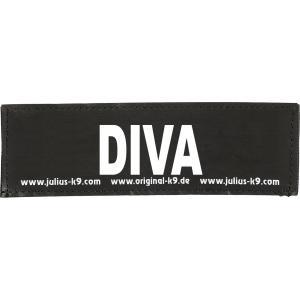 Julius-K9 tekstlabel Diva 11 x 3 cm