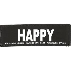Julius-K9 tekstlabel Happy 11 x 3 cm