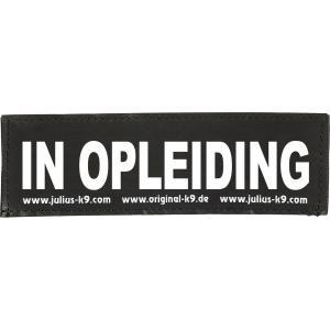 Julius-K9 tekstlabel In opleiding 11 x 3 cm