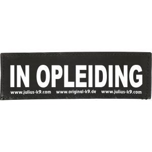 Julius-K9 tekstlabel In opleiding 16 x 5 cm