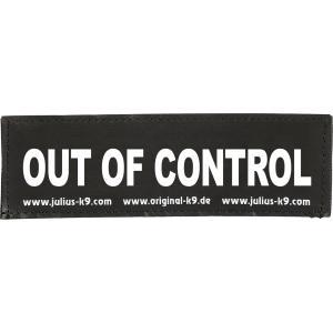 Julius-K9 tekstlabel Out of Control 16 x 5 cm