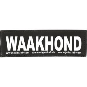 Julius-K9 tekstlabel Waakhond 11 x 3 cm