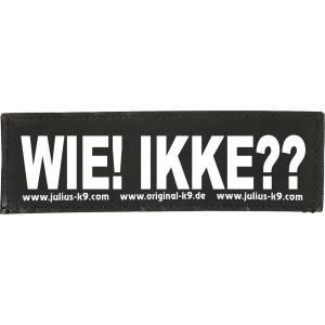 Julius-K9 tekstlabel Wie! Ikke?? 11 x 3 cm