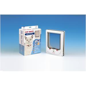 Cat Mate electromagnetisch kattenluik groot met vierwegsluiting 60mm wit