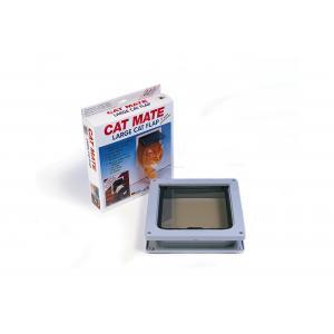 Cat Mate kattenluik groot met vierwegsluiting 50mm bruin