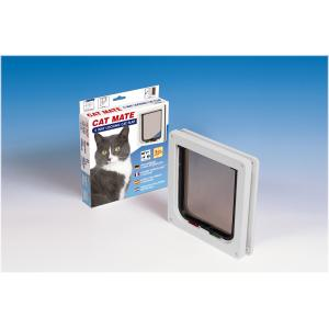 Cat Mate kattenluik met vierwegsluiting 13mm wit