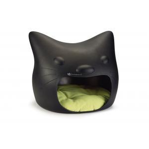 Kattenkop kattenmand zwart