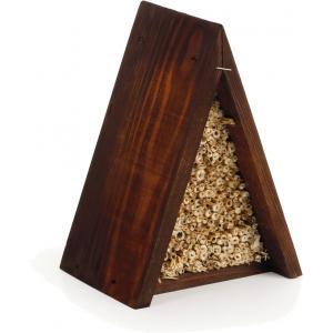 Houten bijenhuis driehoek bruin