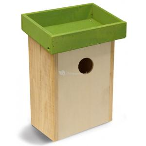 Vogelhuisje voor kleine vogels groen