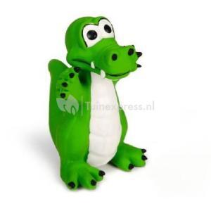 Latex krokodil groen hondenspeelgoed