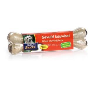 DeliSnacks gevuld kauwbot met pens hondensnack