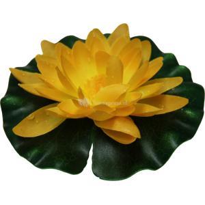 Waterlelie geel kunststof 14cm